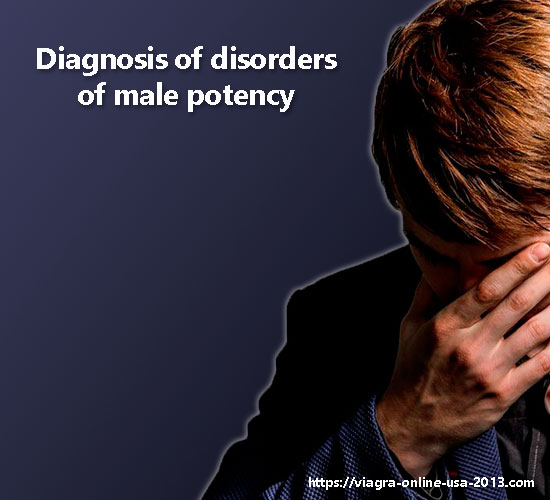 Diagnosis of disorders of male potency